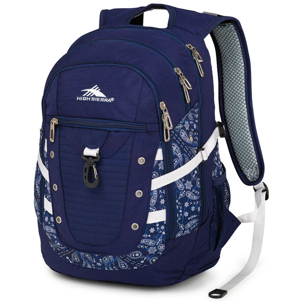 High Sierra Tactic Backpack in the color True Navy/Bandana.