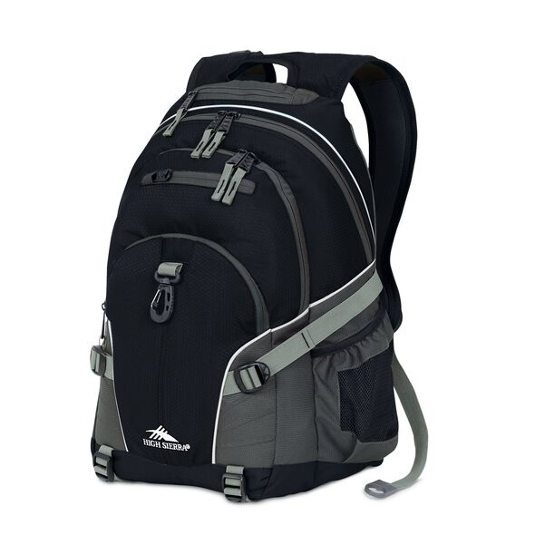 High Sierra Loop Backpack in the color Black/Charcoal.