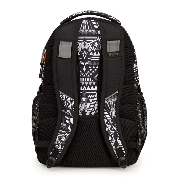 High Sierra Swerve Backpack in the color Geo Weave/Black.