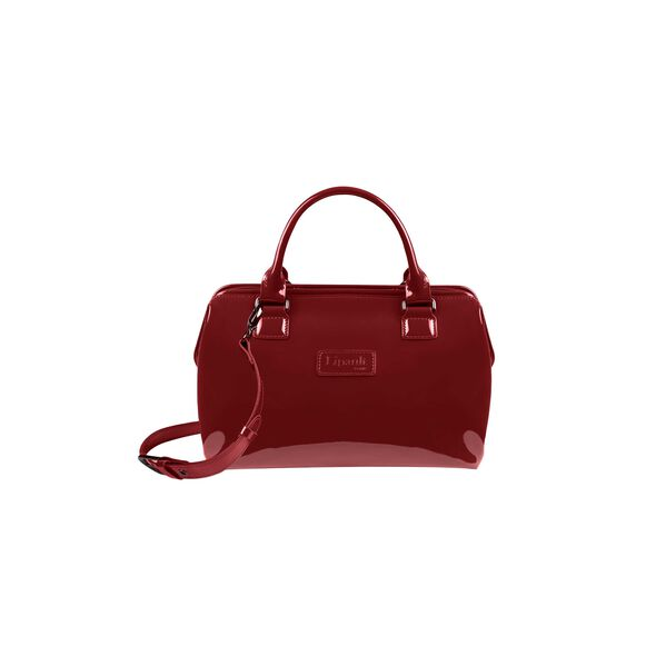 Lipault Plume Vinyle Bowling Bag S in the color Ruby.