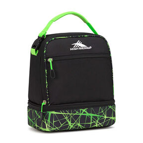 High Sierra Lunch Packs Stacked Compartment in the color Black/Digital Web/Lime.