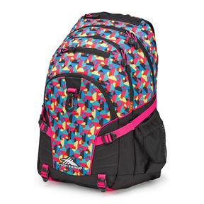 High Sierra Loop Backpack in the color Heart Throb/Black/Flamingo.