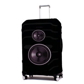Printed Luggage Cover - L in the color Speakers.