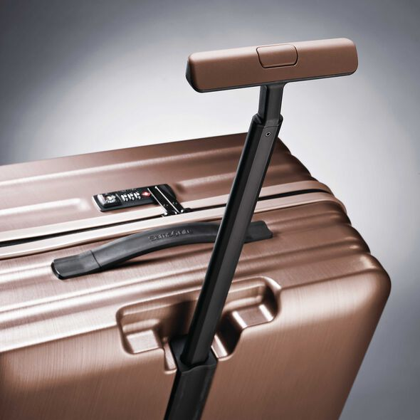 "Samsonite Inova 30"" Spinner in the color Rose Gold."