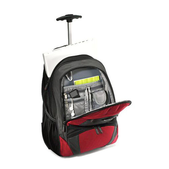 Samsonite Wheeled Computer Backpack in the color Orange and Black.