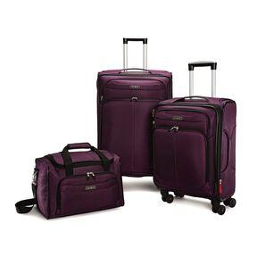 Samsonite Verana DLX 3 Piece Luggage Set in the color Purple.