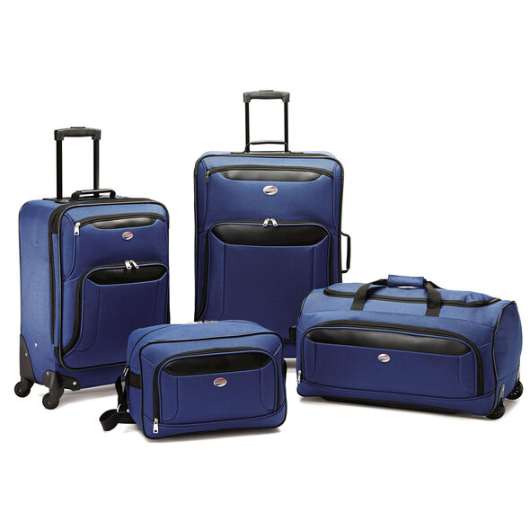 American Tourister Brookfield 4 PC Set in the color Navy Black.