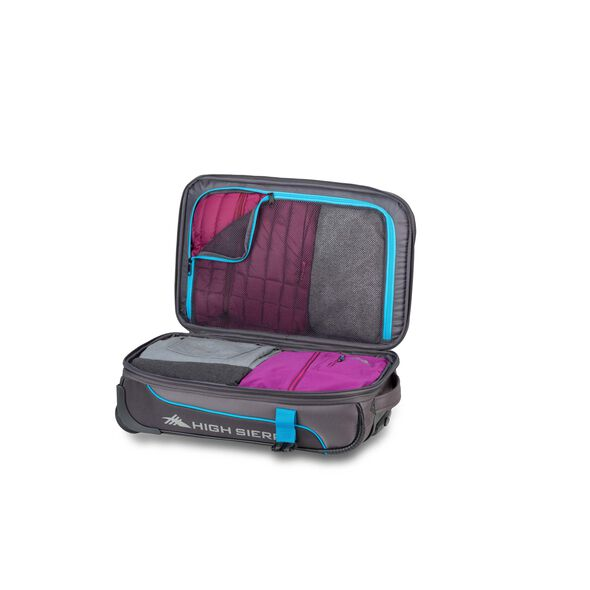High Sierra Evanston Carry-On Upright in the color Slate/Mercury/Pool.