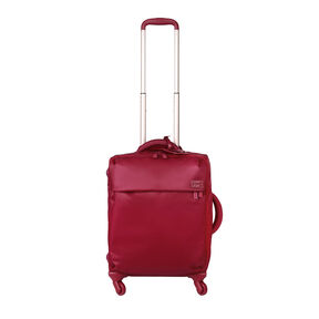 Lipault Original Plume Spinner 55/20 in the color Amaranth Red.