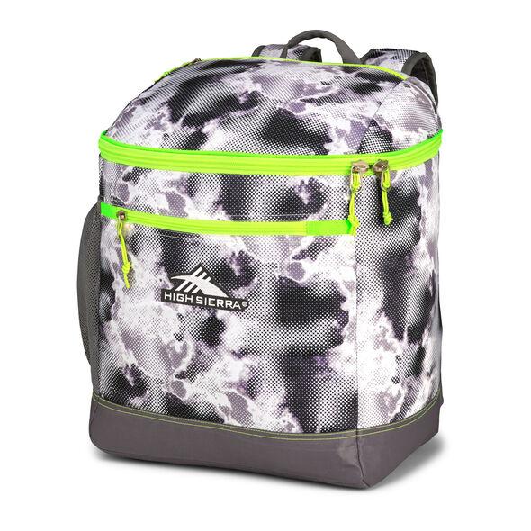 High Sierra Bucket Boot Bag in the color Thunderstruck/Charcoal/Zest.