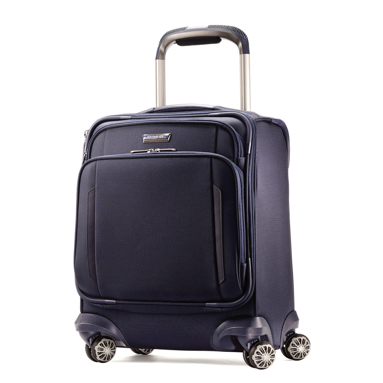 Samsonite Silhouette XV Spinner Boarding Bag in the color Twilight Blue.