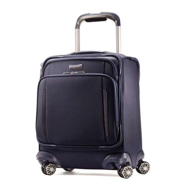 Samsonite Silhouette XV Spinner Boarding Bag in the color Twilight Blue.