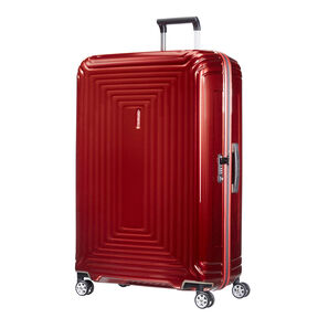 "Samsonite Neopulse Spinner Large (30"") in the color Metallic Red."