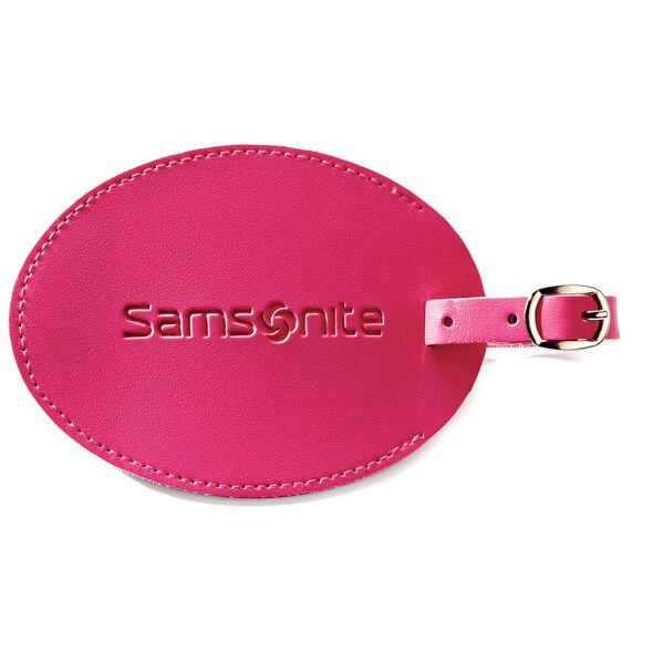 Samsonite Large Vinyl ID Tag in the color Raspberry.