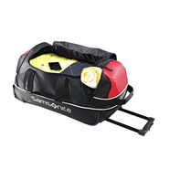 "Samsonite Andante 22"" Wheeled Duffle in the color Black/Red."