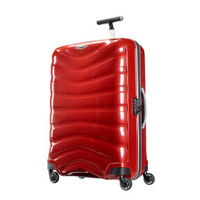 "Samsonite Black Label Firelite 30"" Spinner in the color Chili Red."