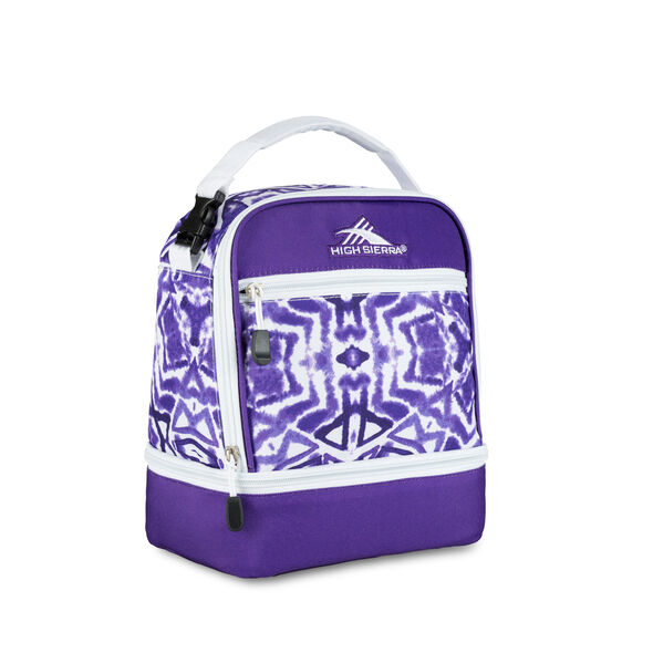 High Sierra Lunch Packs Stacked Compartment in the color Purple Shibori.