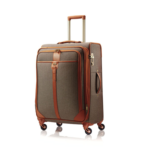 Hartmann Herringbone Luxe SS Medium Journey Spinner in the color Terracotta.