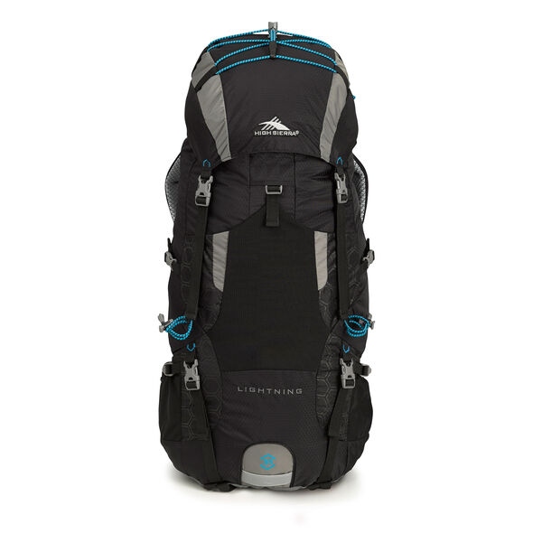 High Sierra Tech 2 Series Lightning 35 Frame Pack in the color Black/Charcoal/Pool.