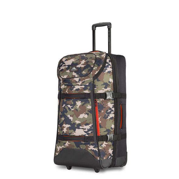 "High Sierra AT Lit 32"" Duffel Upright in the color Black/Whamo Camo."