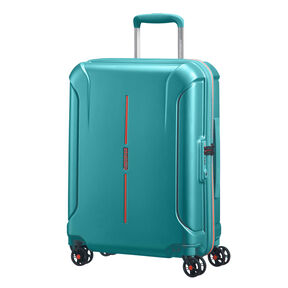 "American Tourister Technum 20"" Spinner in the color Jade Green."