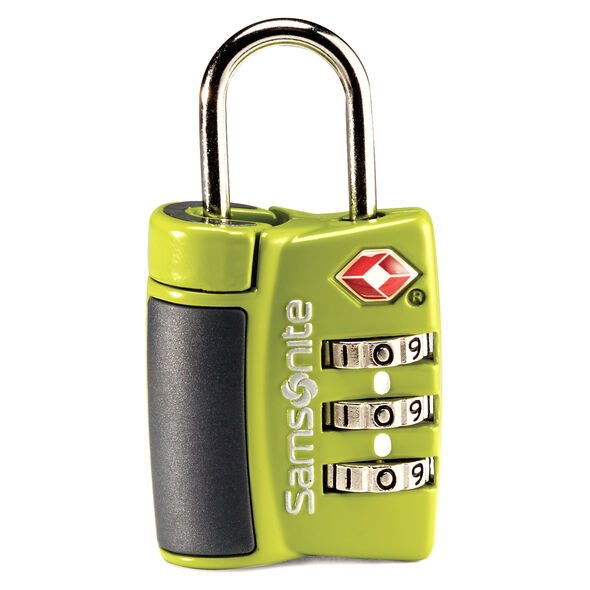 Samsonite Travel Sentry 3-Dial Combo Lock in the color Neon Green.