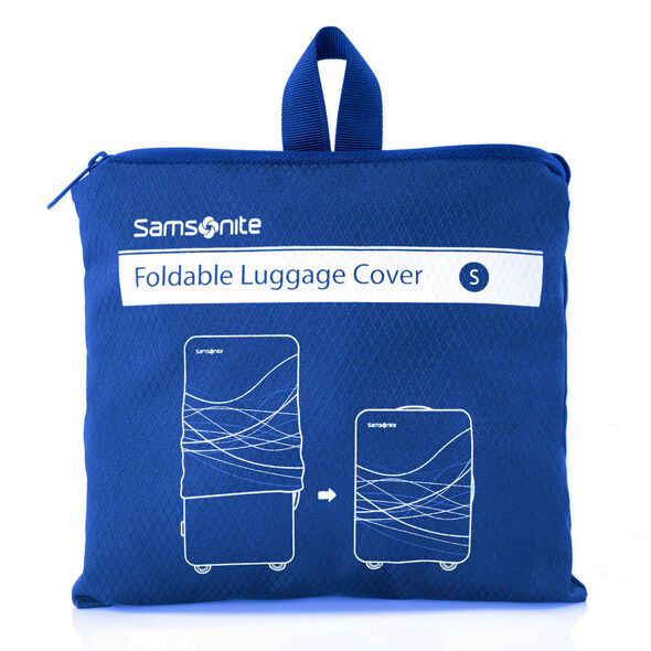 Small Foldable Luggage Cover in the color Blue.