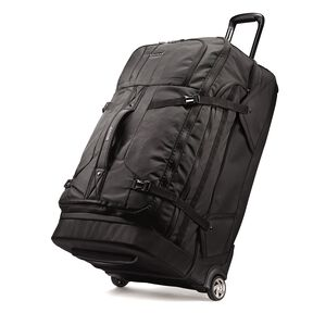 "Boyt Edge 30"" Drop Bottom Wheeled Duffel in the color Deep Black."