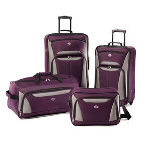 American Tourister Fieldbrook II 4 Piece Set in the color Purple/Grey.