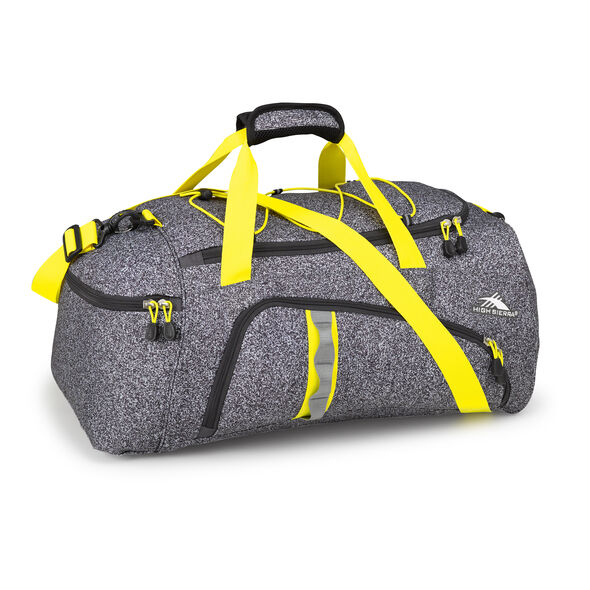 High Sierra Cross Sport Duffels Jitter Duffel in the color Static/Mercury/Sunburst.