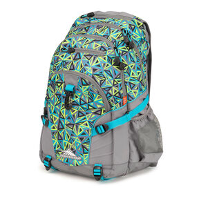 High Sierra Loop Backpack in the color Electric Geo/Charcoal/Tropic Teal.