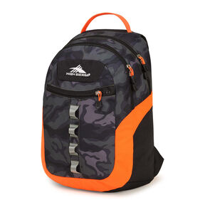 High Sierra Opie Backpack in the color Kamo/Black/Electric Orange.