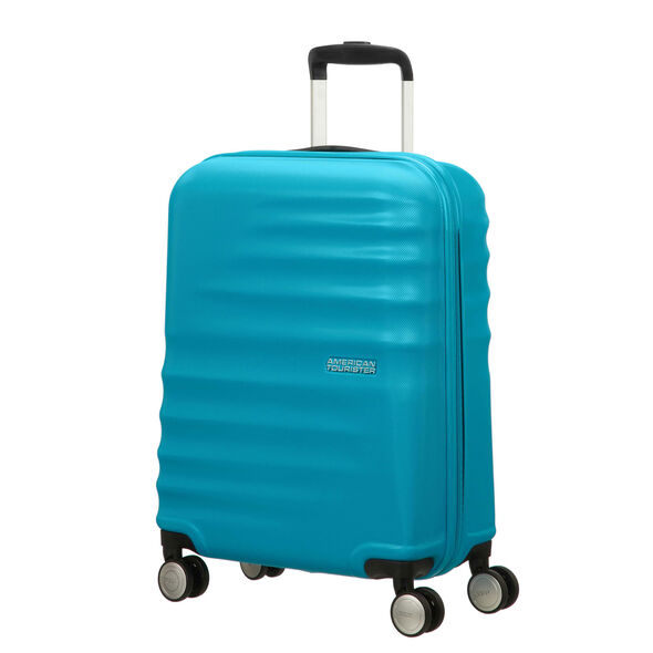 "American Tourister Wavebreaker 20"" Spinner in the color Summer Sky."