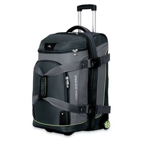 "High Sierra AT3 26"" Drop Bottom Wheeled Duffel in the color Graphite/Titanium/Spring."