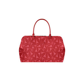 Lipault Lady Plume Weekend Bag M in the color Eiffel Tower/Ruby.