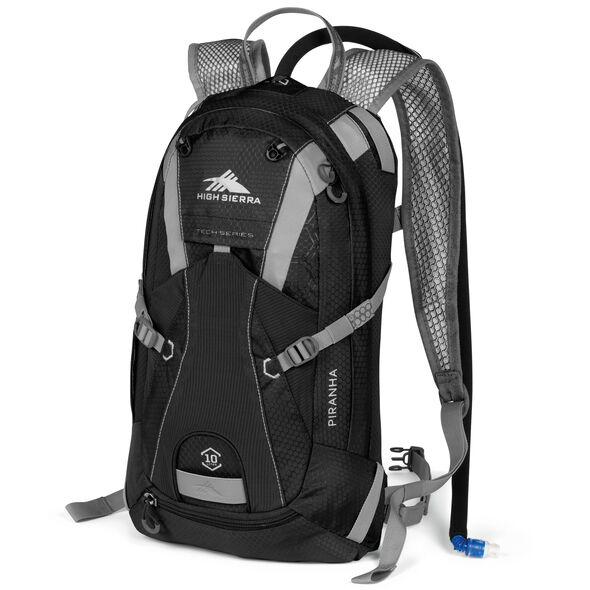 High Sierra Piranha 10L Hydration Pack in the color Black/Silver.