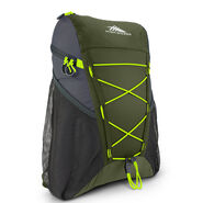 High Sierra Pack-N-Go 2 18L Sport Backpack in the color Moss/Mercury/Chartreuse.