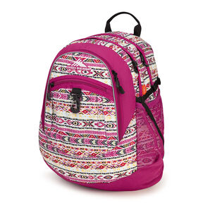 High Sierra Fat Boy Backpack in the color Macrame/Razzmatazz/Black.