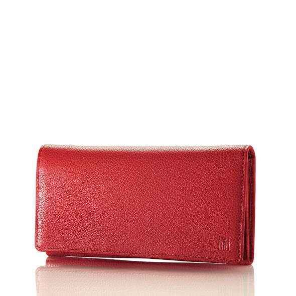 Hartmann Belle City Continental Wallet in the color Red.