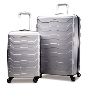Samsonite TRX Lite 2 Piece Set in the color Silver.