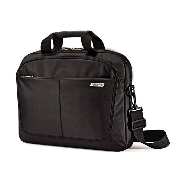 "American Tourister Slim Brief - 15.6"" in the color Black."