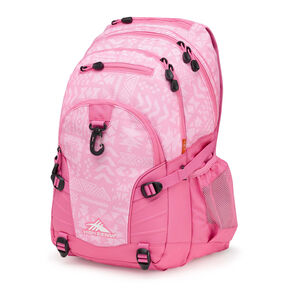High Sierra Loop Backpack in the color Block Print/ Pink Lemonade.