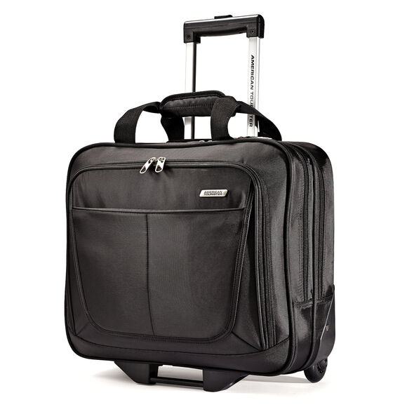 American Tourister Wheeled Mobile Office in the color Black.