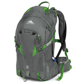 High Sierra Moray 22L Hydration Pack in the color Charcoal/Kelly.