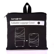 Large Foldable Luggage Cover in the color Black.