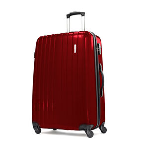 "Samsonite Carbon1 DLX 24"" Expandable Spinner in the color Red."