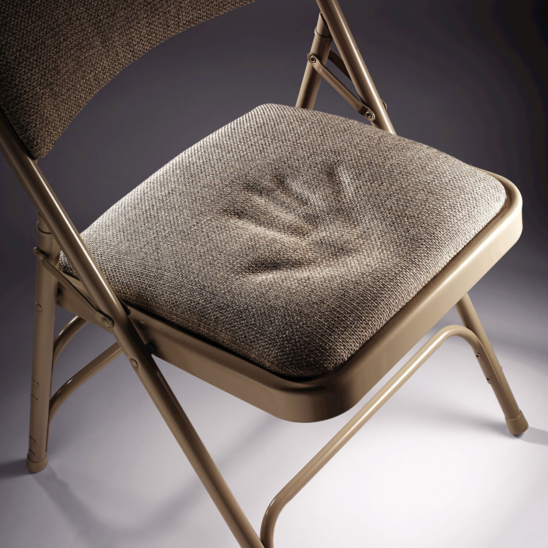 samsonite steel fabric folding chair with memory foam