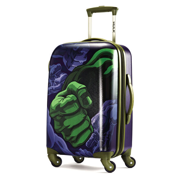 "American Tourister Marvel All Ages 20"" Spinner in the color Hulk."