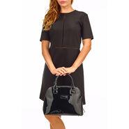 Lipault Plume Vinyle Handle Bag M in the color Black.