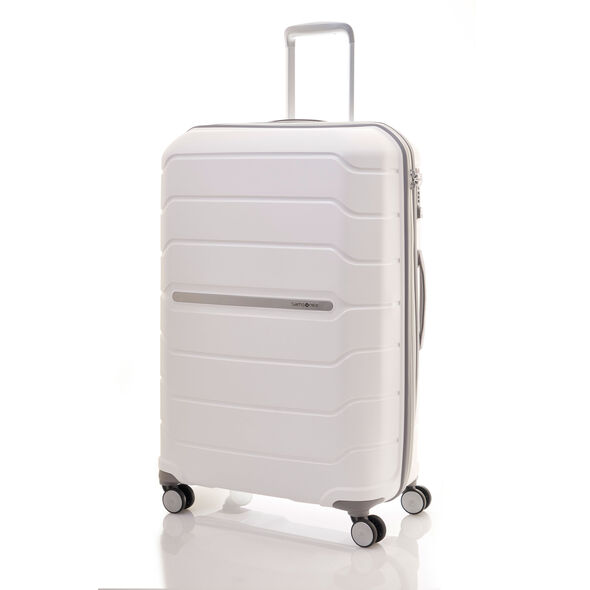"Samsonite Freeform 28"" Spinner in the color White."
